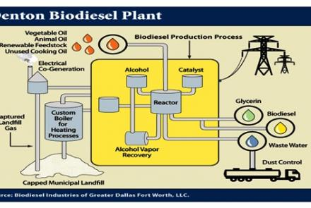 Concept ideas of manufacturing biodiesel from green vegetable oil.